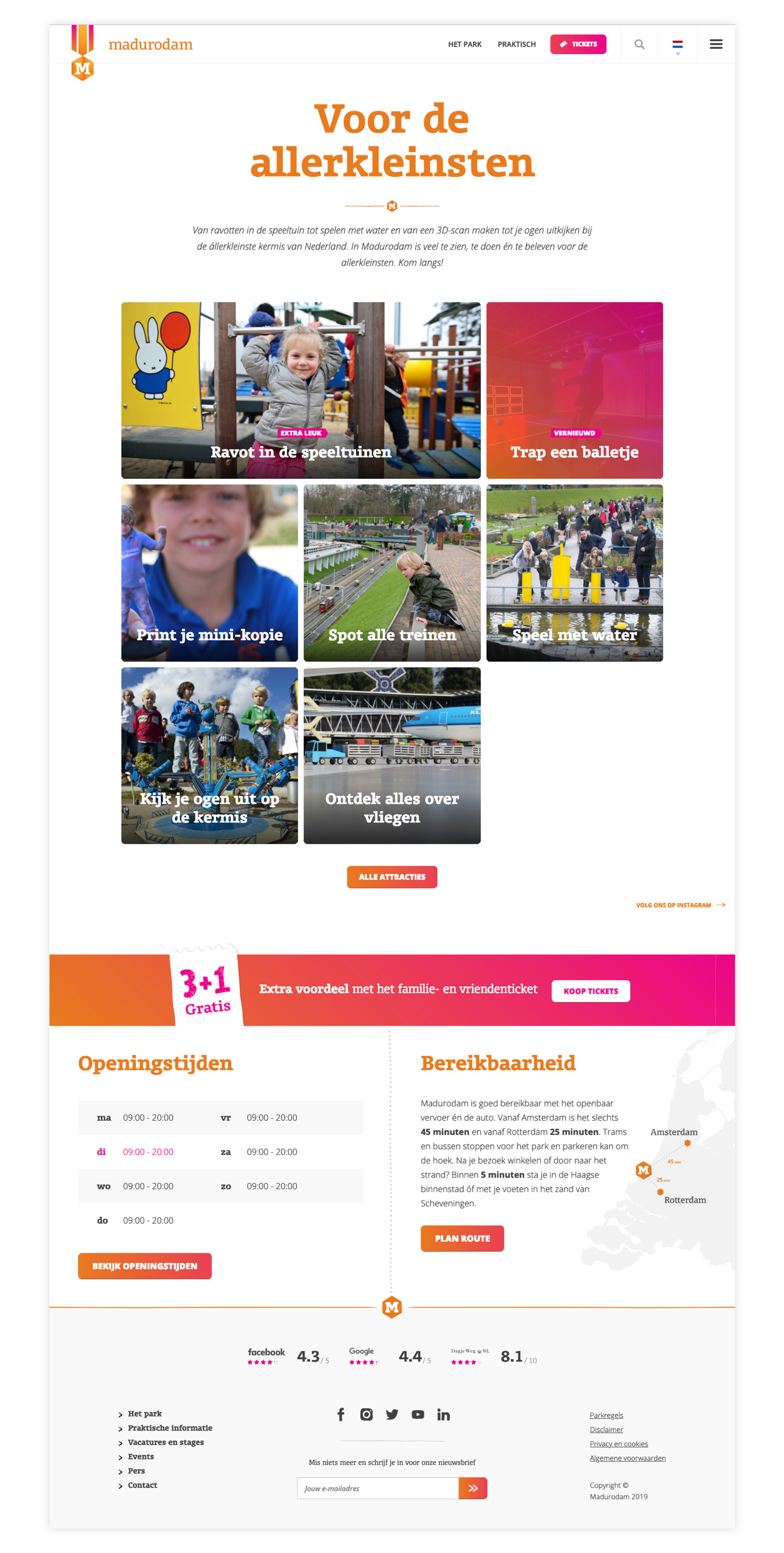 Screenshot website Madurodam
