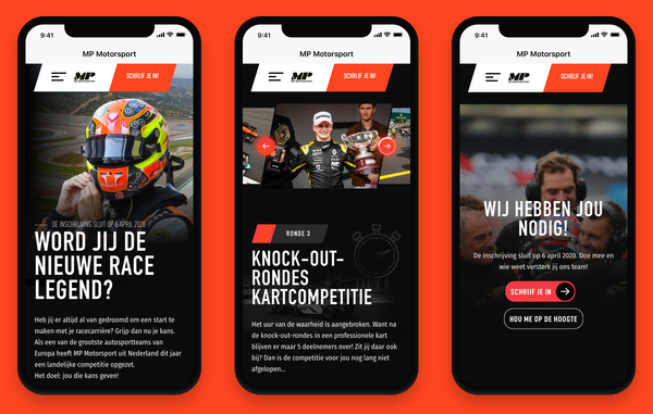 Key visual MP Motorsport iPhones
