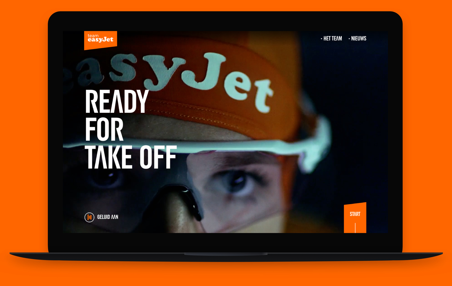 Key visual easyJet laptop screenshot website